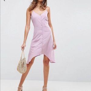 Button front midi dress.